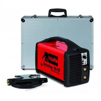 Aparat de sudura invertor TELWIN TECHNOLOGY 186HD, 230V ACX + ALU C. CASE